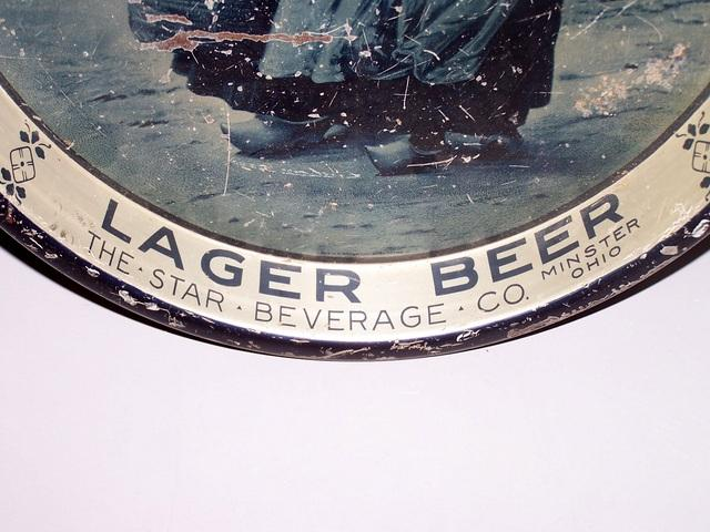 Lager Beer Tin Tray