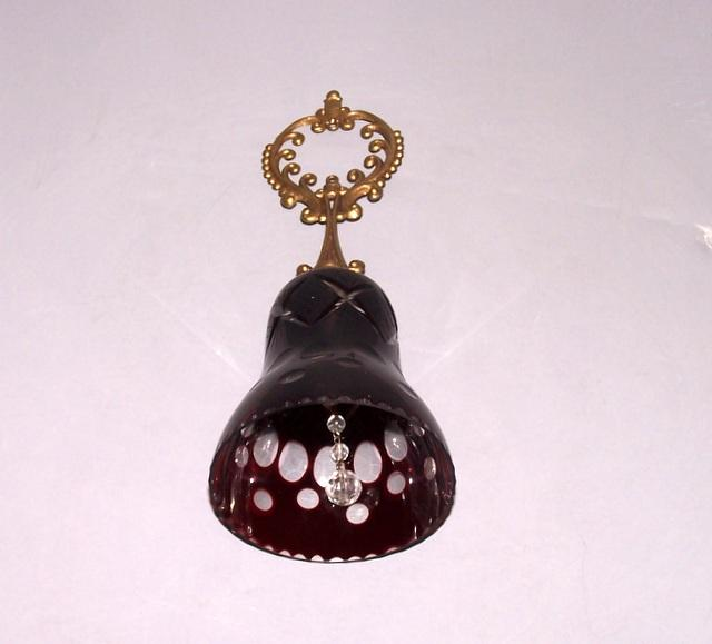 Ruby Red Glass Bell