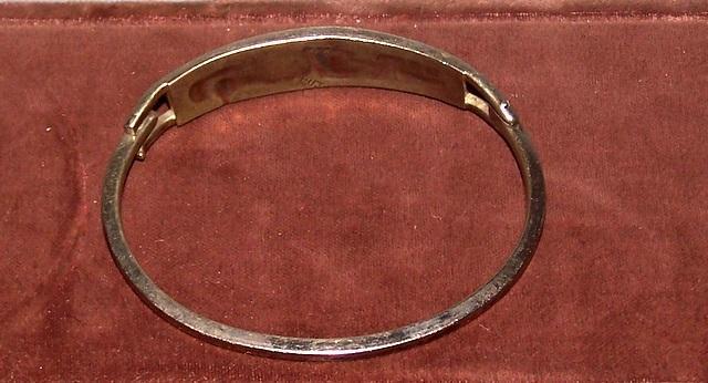 Cloisonné Silver Bracelet