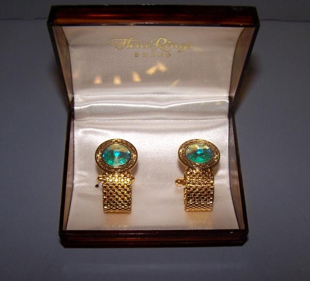 Light Iridescent Cuff Links