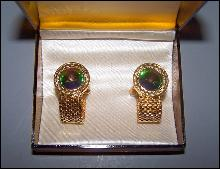 Dark Iridescent Cuff Links