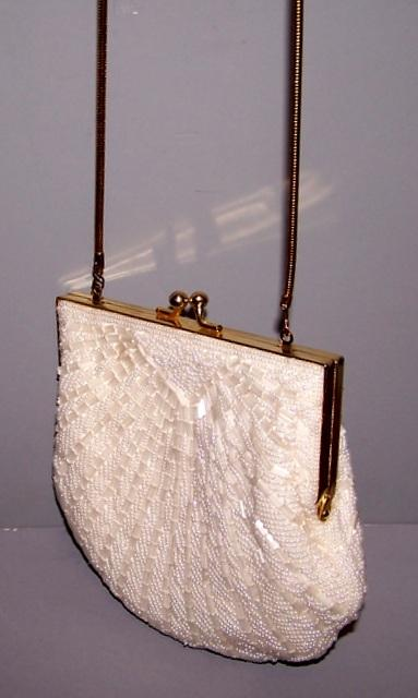 Beaded Purse- White