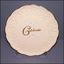 "Lenox Cake Plate ""Celebrate"""