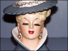 1959 Napco Women Head Vase