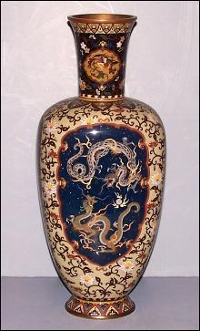 Cloisonné Vase with Dragons
