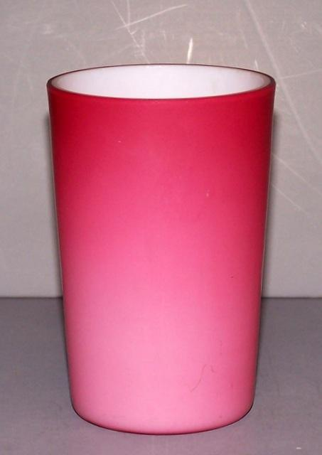 Pink Satin Glass Tumblers