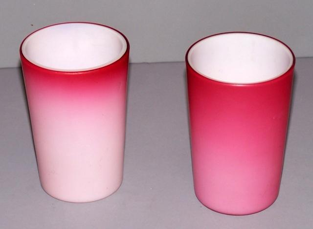 Pink Satin Glass Tumblers