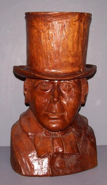 Walnut Bust of Charles Dickens