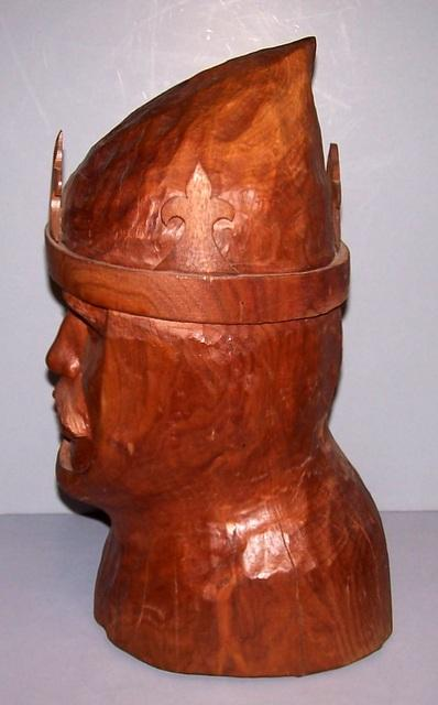 Walnut Bust of a King