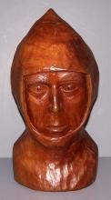 Walnut Bust of a Pawn