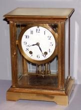 Seth Thomas Crystal Regulator Clock As Is