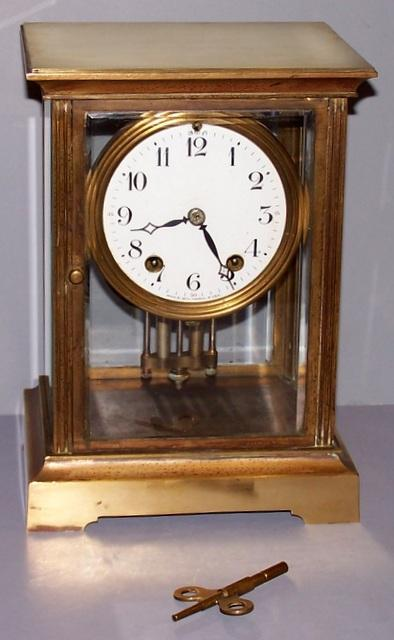 Seth Thomas Crystal Regulator Clock As Is