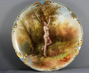 Fabalous Large Hand Painted Nude Plate