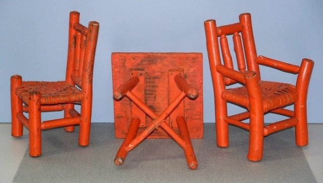 Childs Primitive Parlor Toy Set