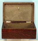 Rare Old Kansas City Oak  Cigar Humidor