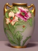 Nippon Vase with Flowers