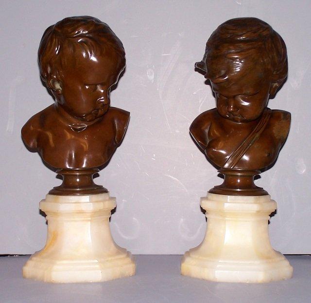 Bronze Boy Busts