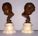 Bronze Boy Busts