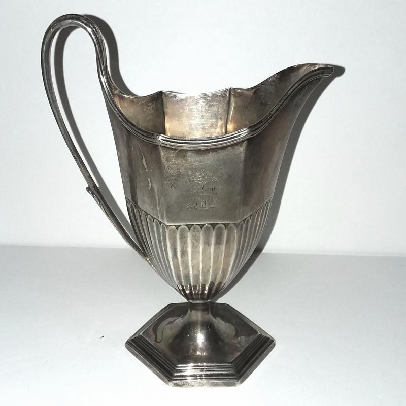 Georgian Sterling Silver Footed Pitcher by Daniel Smith & Robert Sharp. George III, London 1785.