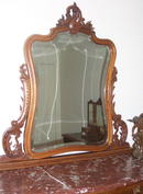 Solid Walnut Louis XV Dresser &Mirror  1880