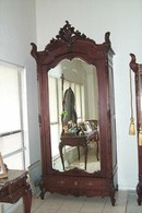 19th Century Rosewood Single Hand Carved