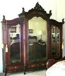 19th Century Rosewood Triple Hand Carved