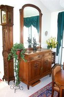 Solid Walnut sideboard china cabinet w/mirror