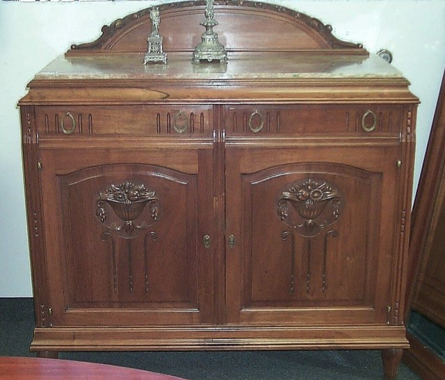 Solid Walnut sideboard china cabinet w/mirror