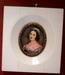 Miniature Portrait on Ivory Helene Sedlmayr