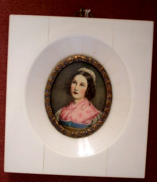 Miniature Portrait on Ivory Helene Sedlmayr