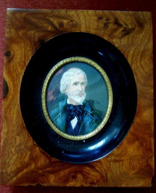 Miniature Signed Portrait  of a