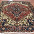 Semi Antique Persian Square Heriz Rug-4494