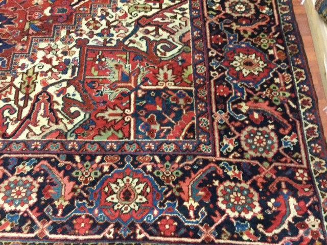 Antique Persian Heriz Rug-3411