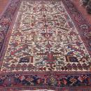 Antique Persian Ivory All-Over Heriz Rug-3785