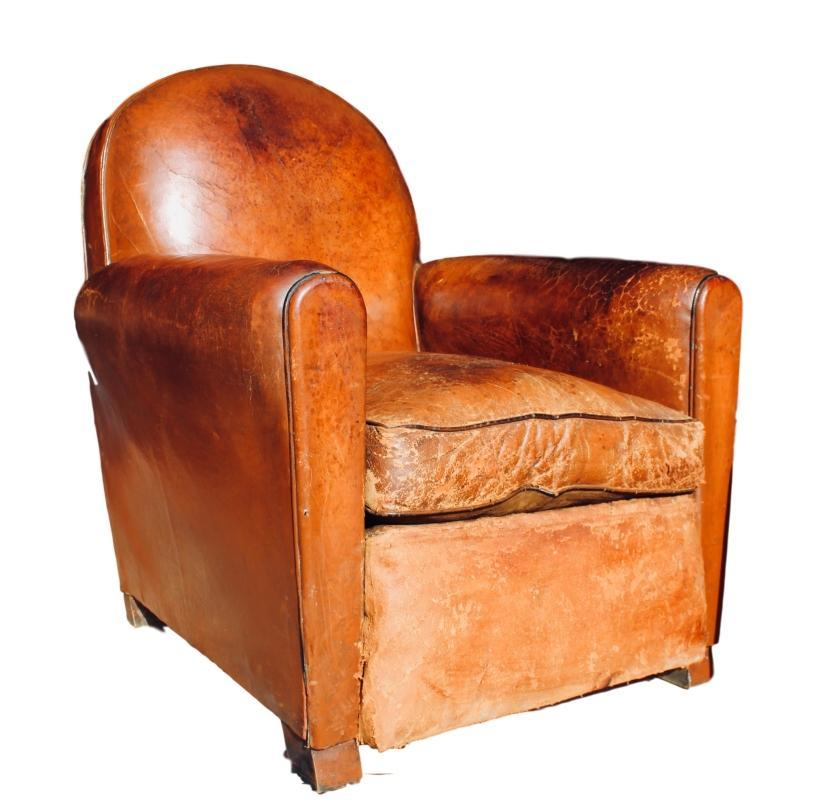 Leather Club Chair made around 1920