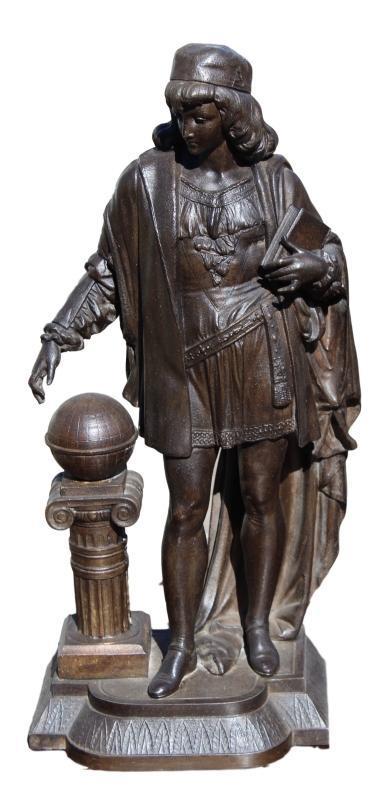 Pair of Victorian Spelter Figures