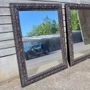 Large Pair of Mirrors with Bevelled Glass