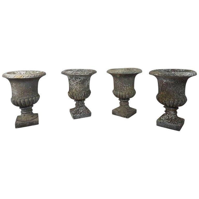 20th Century Italian Neoclassical Garden Pots Set, Garden Ornament