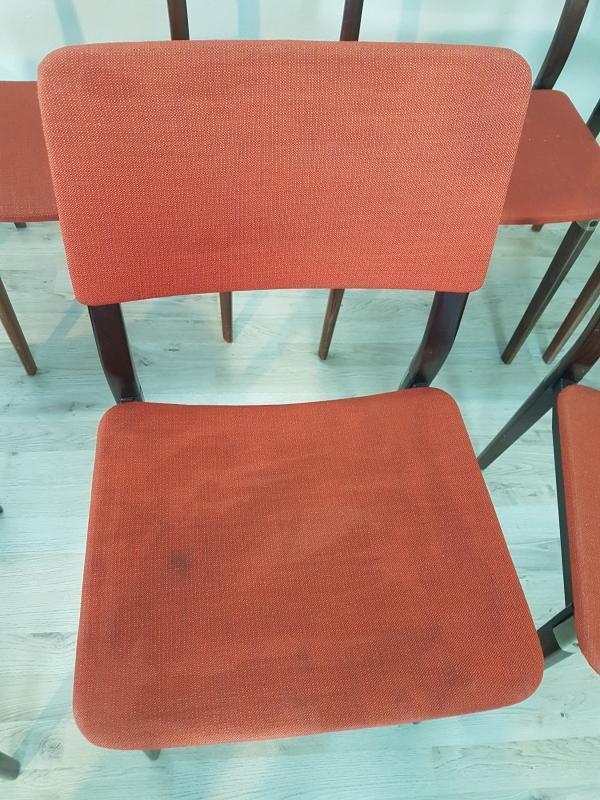 Rare Mid Century chair set by Eugenio Gerli for Tecno Milano