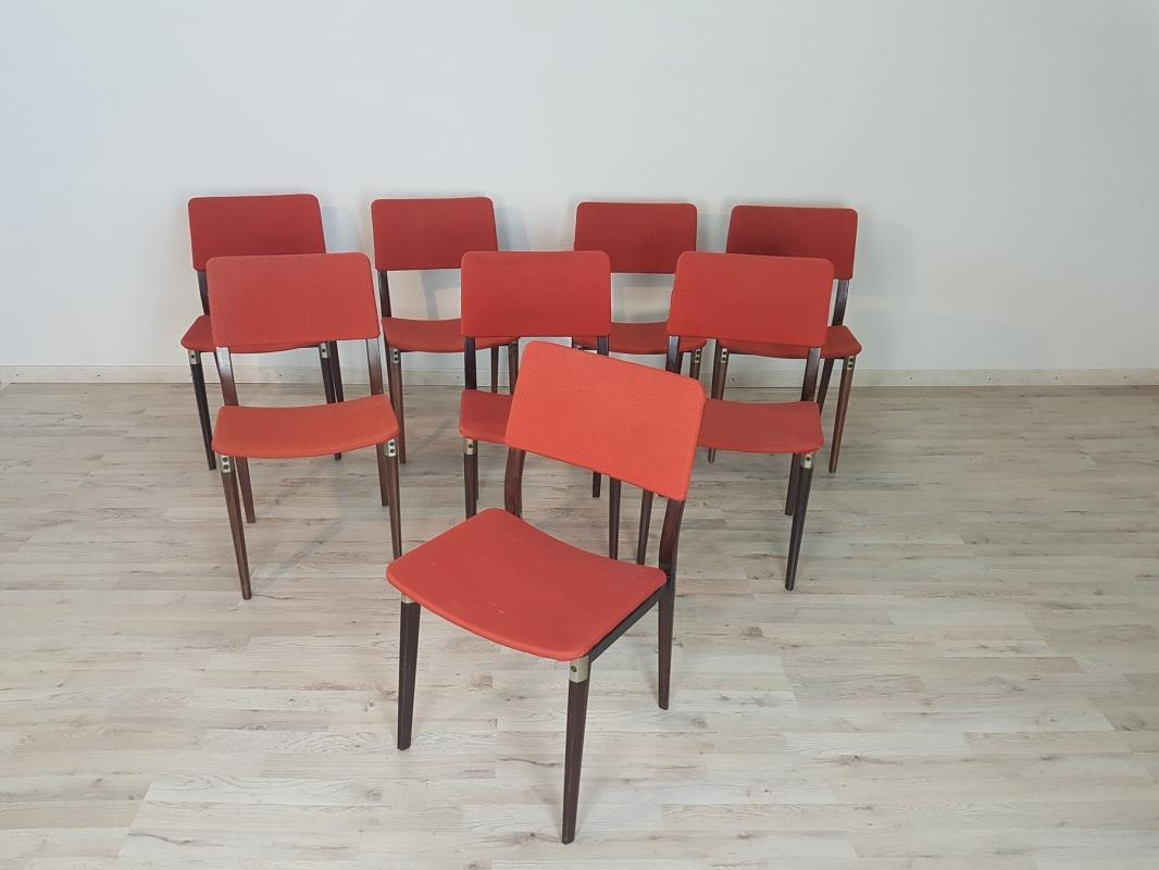 Rare Mid Century chair set by Eugenio Gerli for Tecno Milano