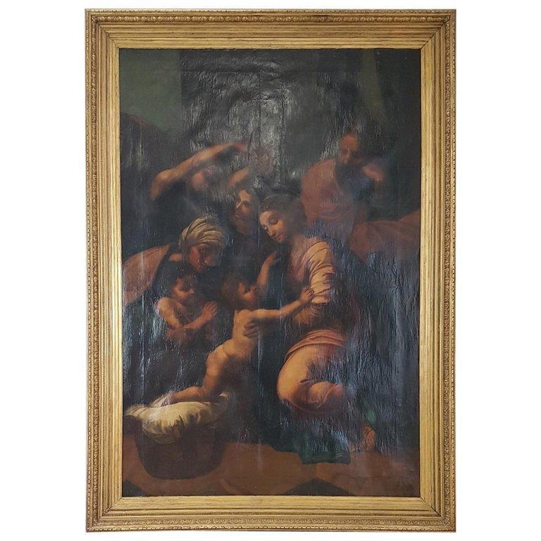 19th Century Léonce Ricau Oil on Canvas Painting