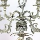 20th Century Italian Baroque Style 800 Silver Pair of Candelabras with Cherubs