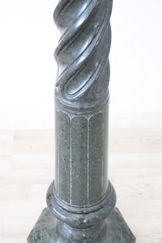 19th Century Italian Antique Column in Green Marble