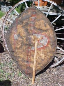 Masai Lion Shield and Spear