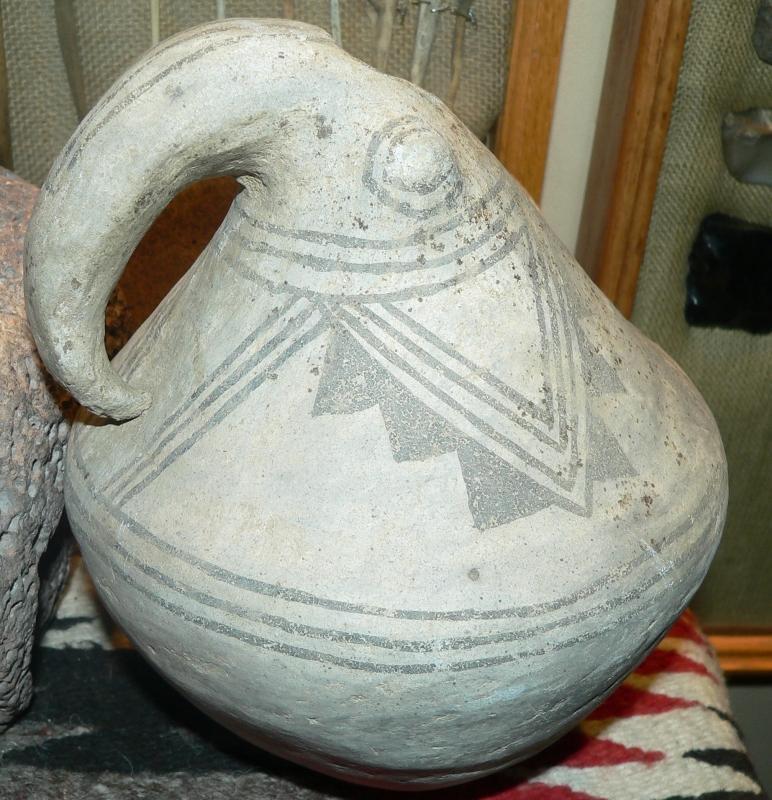 Anasazi Pueblo I Piedra Black Grey Gourd Effigy Jar