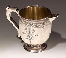 Silver, Creamer, San Francisco, c.1860-1870
