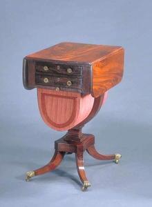 Table, Sewing, Mahogany, English Regency, c.1820