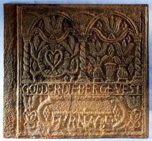 Fireback, Cast Iron Pennsylvania 18th century