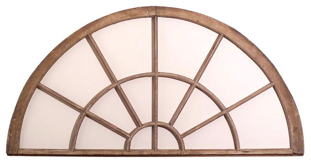Transom, Half Round, late 18th or early 19th C.