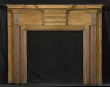 1999/869 Chester County Gouge Carved Mantel c.1790-1810